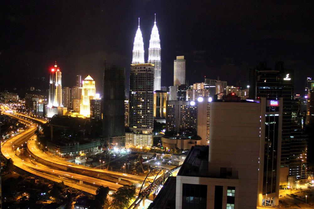 Viewing the City from the Sheraton Kuala Lumpur