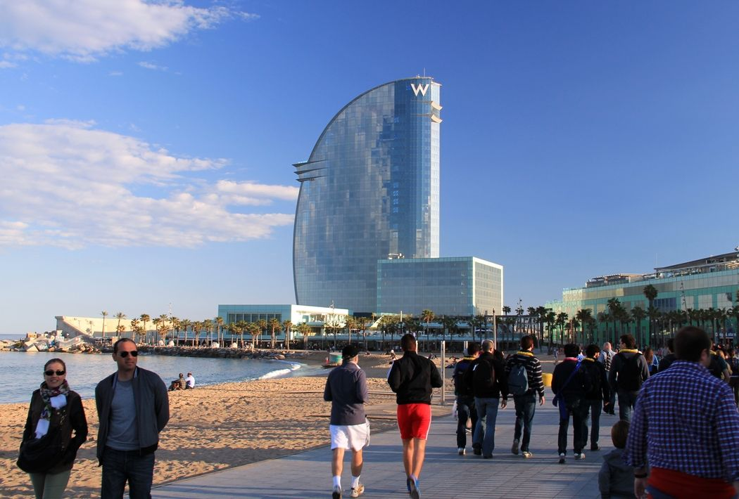 Luxury Room With A Fantastic City View Hotel W In Barcelona