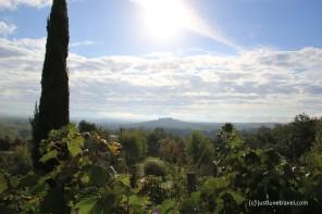 Toskana Wein Zypressen Hügel