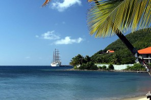 Sea Cloud II Karibik Strand beach Caribbean