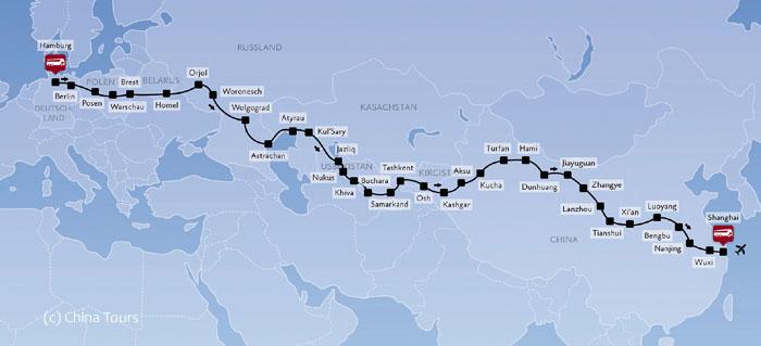Zeitreisen_Seidenstraße_Reiseroute