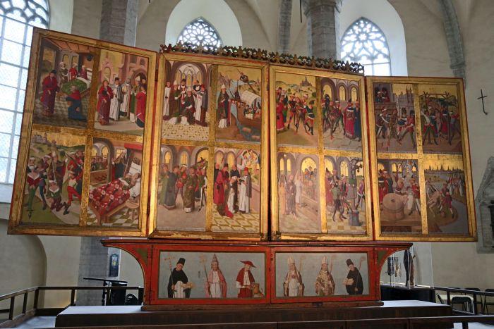 Nicolaikirche Tallinn_ Hochaltar Totentanz