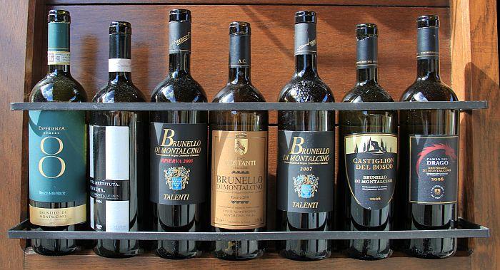 Brunello di Montalcino Flaschen Toskana