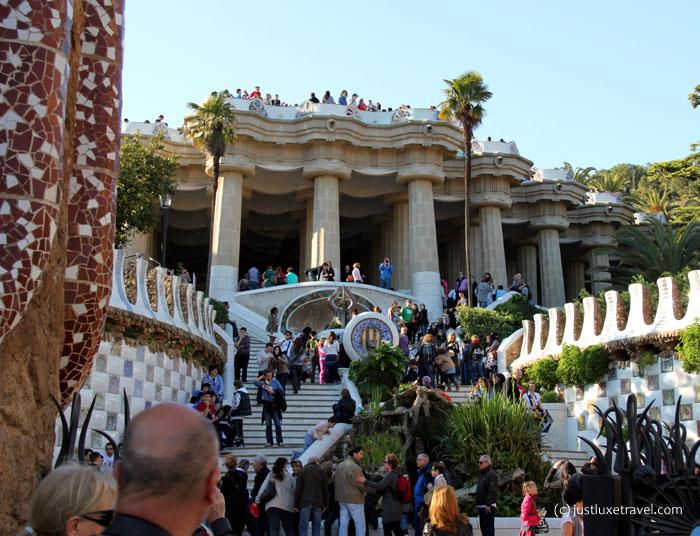 Barcelona-Park Guell_Freitreppe