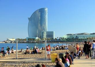 Hotel W am Strand von Barcelona