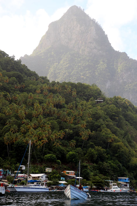St. Lucia_Pitons vom Boot aus