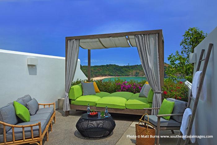 The Nai Harn Balcony beach view