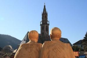 Bozen Bolzano Marktplatz Walther Dom