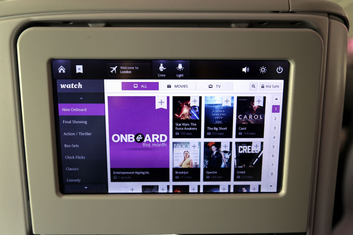 Air New Zealand Inflight Entertainment