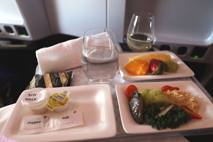 Air New Zeaaland Premium Economy Essen