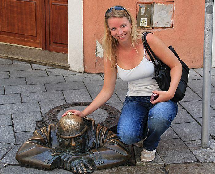 Bratislava Man at work Cumil Selfie