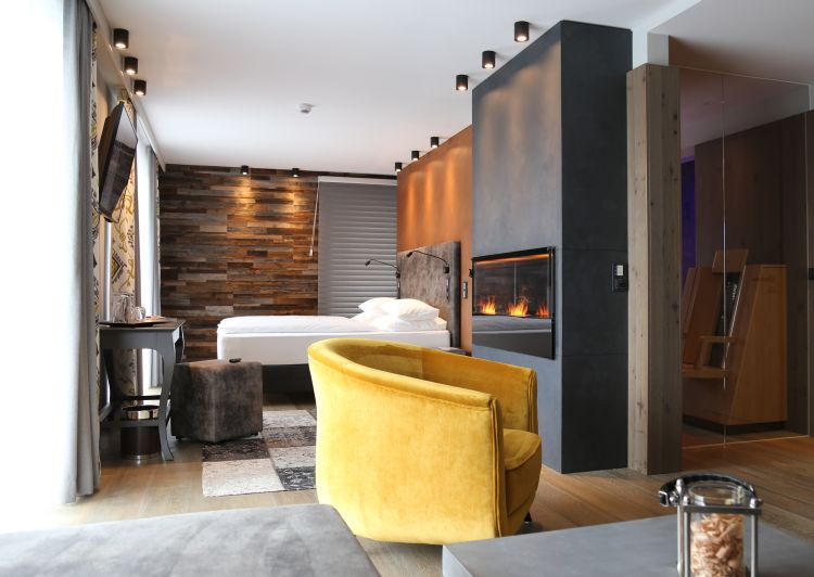 13 Bodenmaiser Hof Luxus Zimmer Kamin