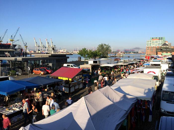Hamburgs Fischmarkt am Morgen