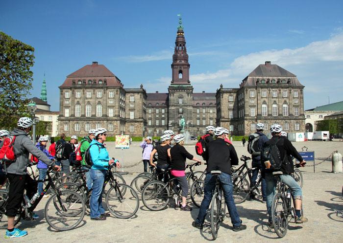 Kopenhagen-Fahrradtour zum Schloss Christiansborg
