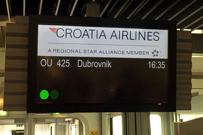 Croatia Airlines Abflug Düsseldorf