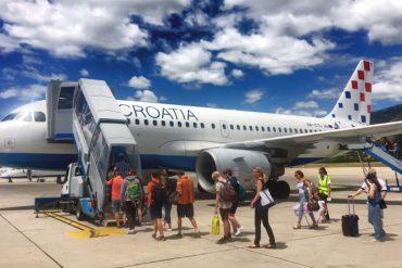 Croatia Airlines Abflug Dubrovnik