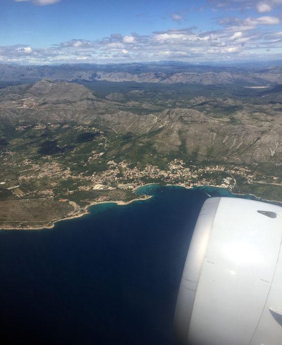 Croatia Airlines Blick auf die kroatische Küste