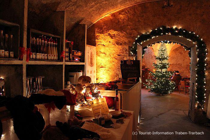 Unterirdischer Weihnachtsmarkt in Traben-Trarbach