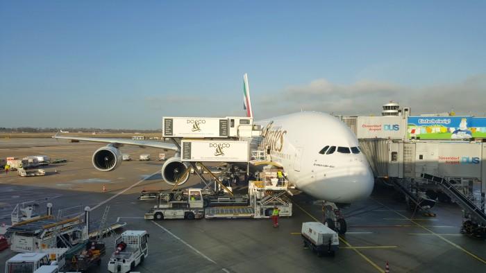 Mit dem A380 von Düsseldorf nach Singapur