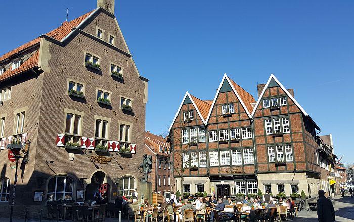 Münster Kurzurlaub Kiepenkerl Platz Restaurant