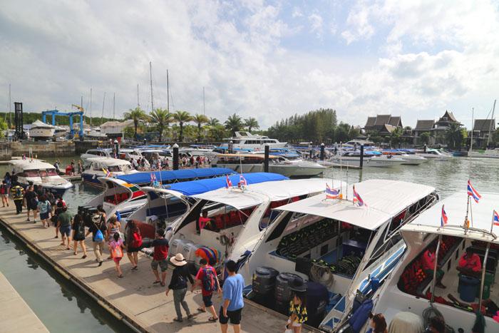 Phuket-Hafen Speedboote