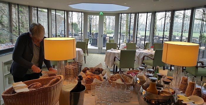 Parkhotel de Wiemsel Frühstück mit Ausblick
