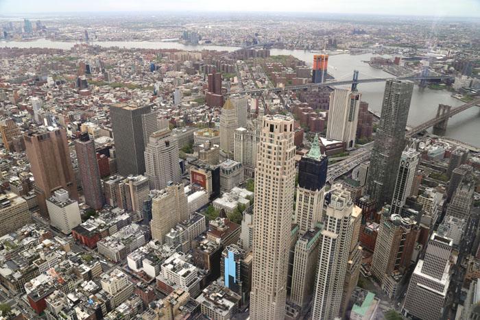 Blick auf die Brooklyn und die Manhattan Bridge