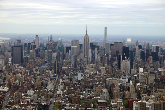 One World Observatory - Ausblick auf Empire State Building