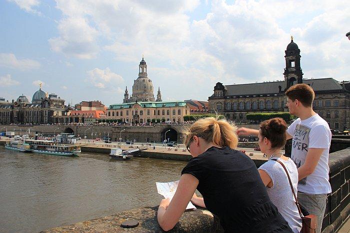 Dresden Altstadt Ausblick Brücke