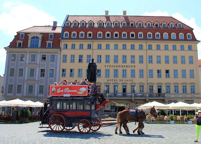 Dresden Ausblick Hotelzimmer Steigenberger Hotel de Saxe