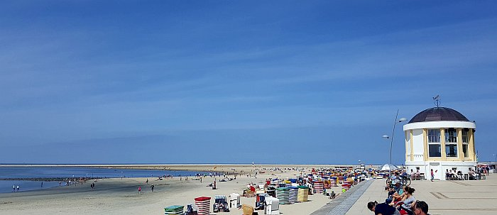 Borkum Promenade Strand Nordbad Sonne