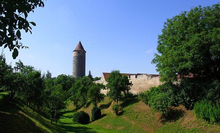 Iphofen Wein Franken Stadtmauer Eulenturm
