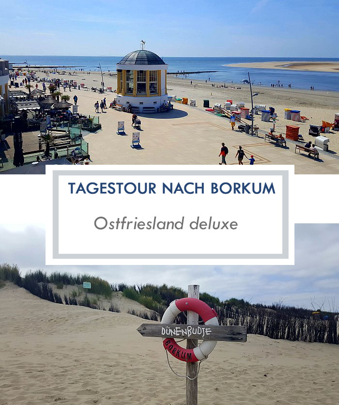 Tagesausflug mit dem Fahrrad nach Borkum