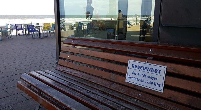 Norderney Thalasso Nordstrand Rentner Bank Wattenmeer Strand Meer