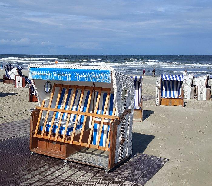 Norderney Thalasso Strand barrierefreier Strandkorb