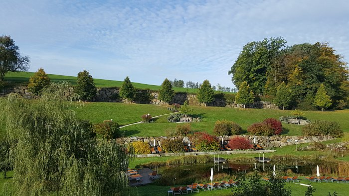 Mostviertel Niederösterreich Birne Kothmühle Garten Naturbadeteich