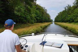 Le Boat Hausboot Elsass Unterwegs auf dem Canal de la Marne au Rhin