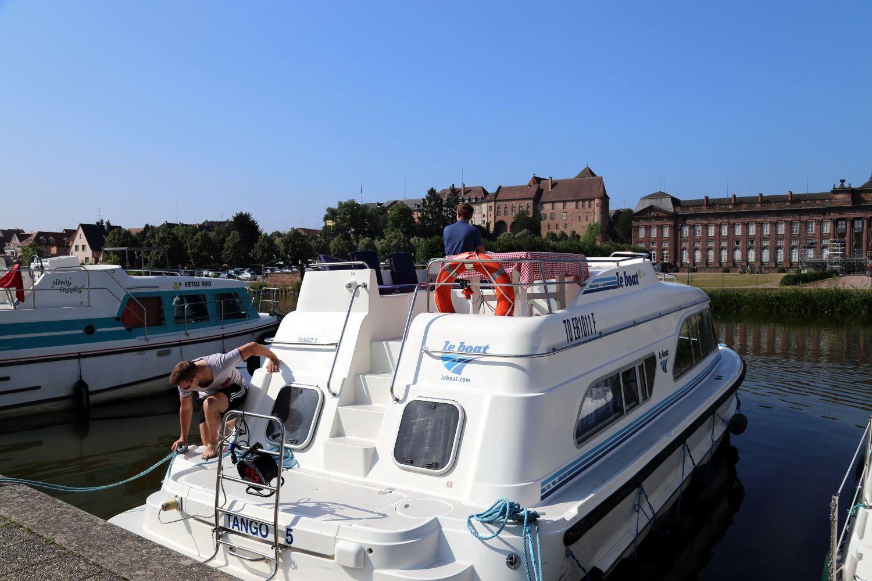 Hausboot Elsass Ablegen aus Saverne