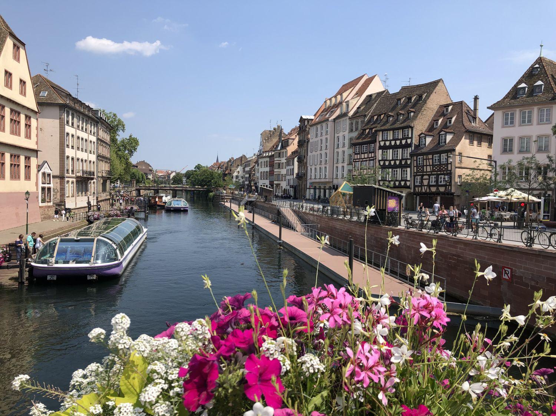 Hausboot Elsass Innenstadt von Strassburg