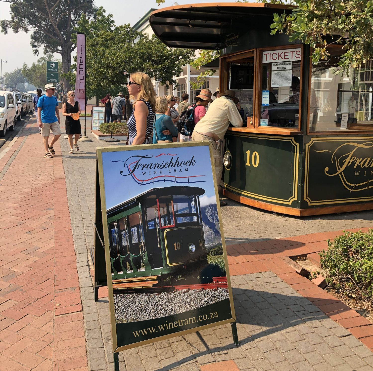 Wine Tram Ticketschalter in Franschhoek